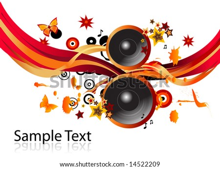 Speakers background - stock vector
