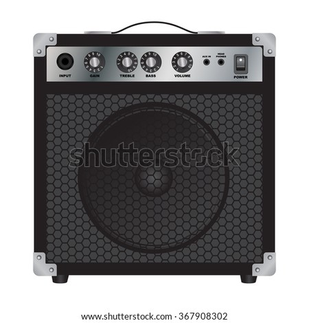 Speakers for Electric Guitar. Combo amplifier. Guitar amplifier. Vector image. - stock vector