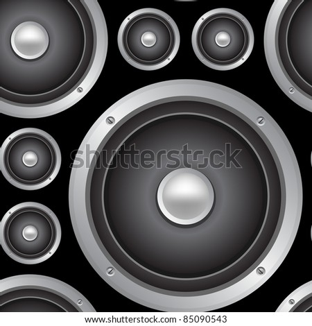 Speakers seamless background. Vector pattern