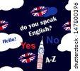 speaking english background - stock photo