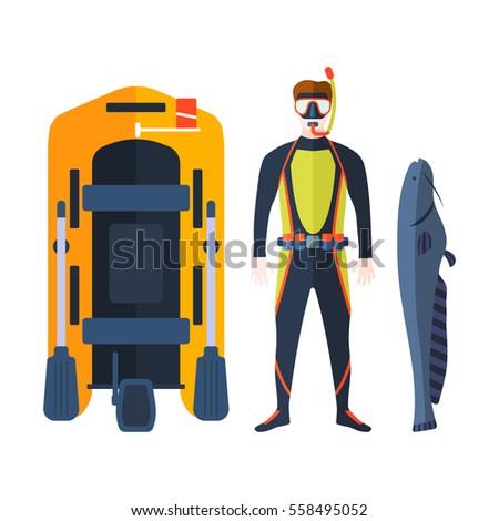 Spearfishing vector