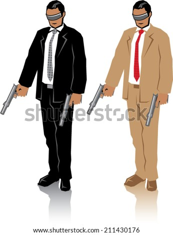 Special Agent - stock vector