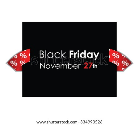 special black friday background  - stock vector
