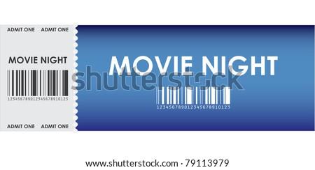special blue movie ticket - stock vector