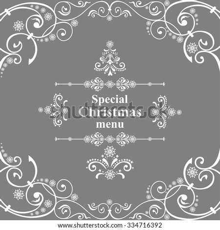 Special Christmas menu design. Vector Illustration  - stock vector