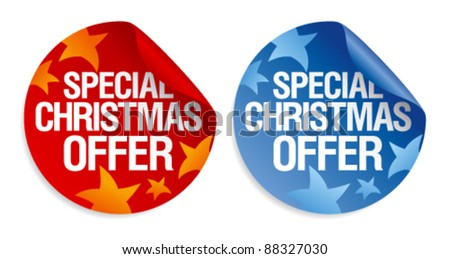 Special Christmas offer stickers set.