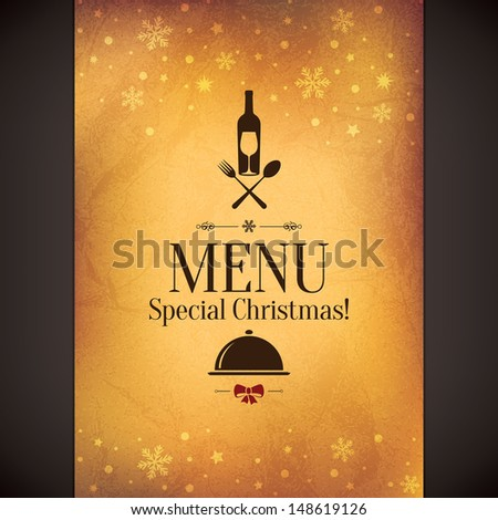 Special Christmas restaurant menu - stock vector
