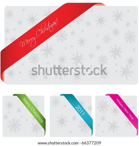 Special corner ribbon - stock vector