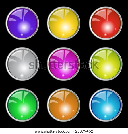 special detailed buttons - stock vector