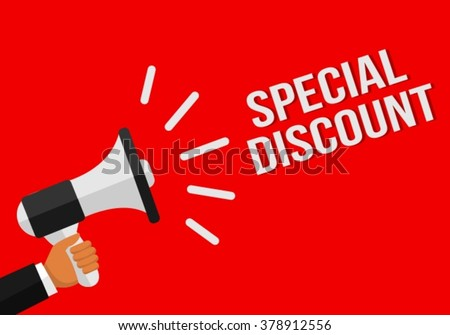 Special Discount Megaphone Sales Vector Design in Red