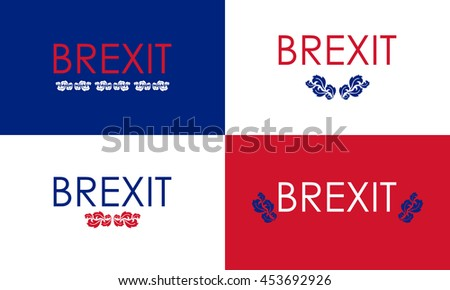 special floral brexit banners - stock vector