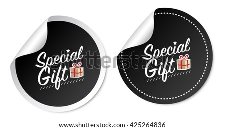 Special Gift Stickers - stock vector