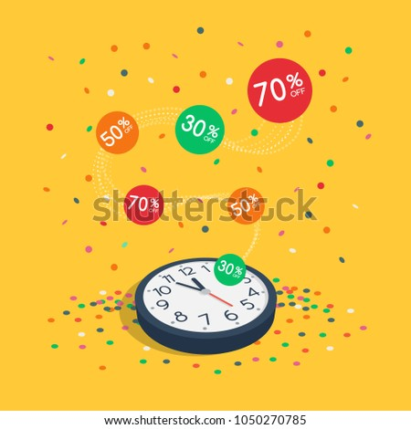 Special Limited Time Sale Symbol Wall Stock Vector 1050270785 ...