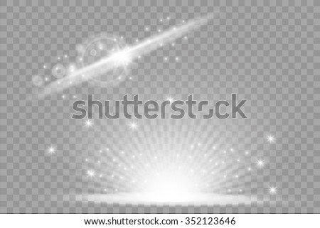 Special line flare light effects - stock vector