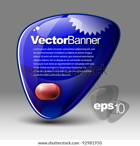 Special Offer Banner blue with the red button - stock vector