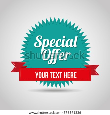 special offer design  - stock vector