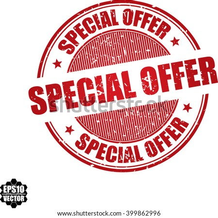 Special offer grunge stamp.Vector - stock vector