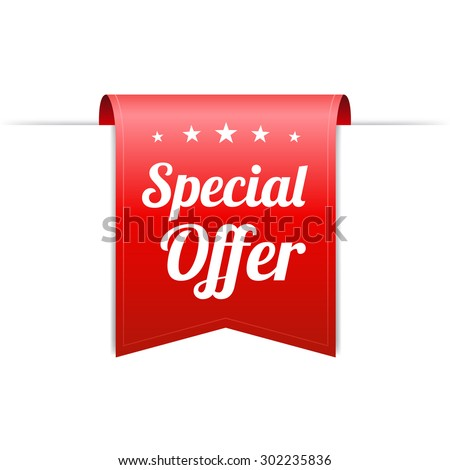 Special Offer Red Label - stock vector