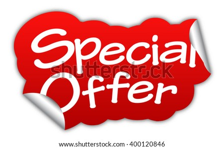 special offer, red vector special offer, sticker special offer, element special offer, sign special offer, design special offer, picture special offer, illustration special offer, special offer eps10 - stock vector