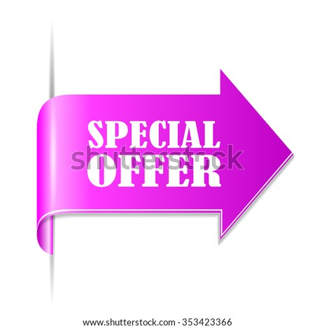 Special offer ribbon vector illustration isolated on white background