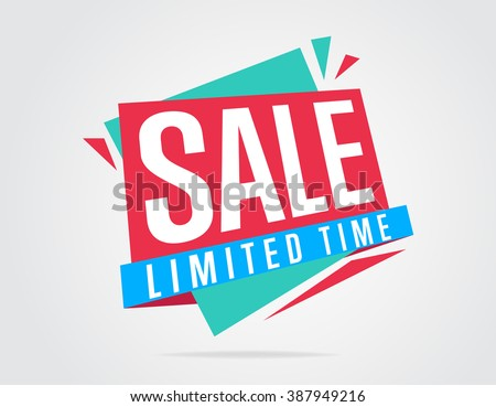 Special offer sale tag discount symbol retail sticker sign price isolated on white background modern graphic style vector illustration  - stock vector