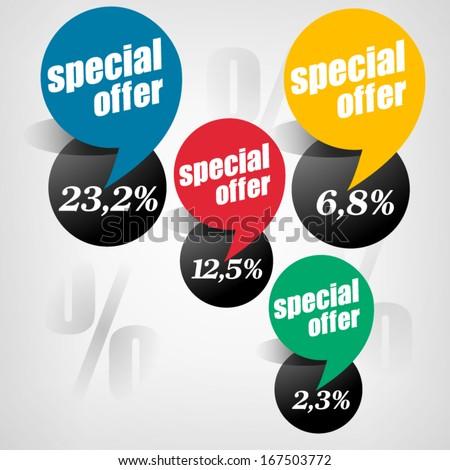 Special Offer Sticker - stock vector