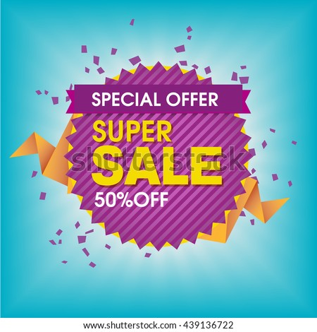 Special Offer, Super Sale, Fifty Percent Off - Banner and Poster Design