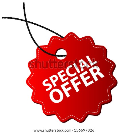 Special offer tag - stock vector
