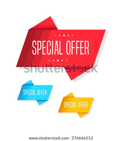 Special Offer Tags - stock vector