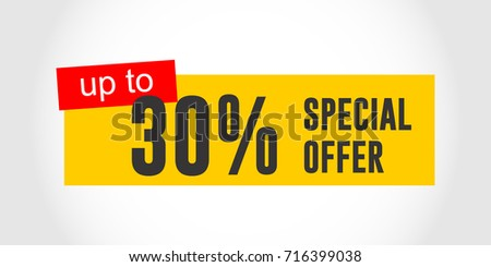 Special Offer Label Logo Vector Stock Vector Shutterstock - 30 up label template