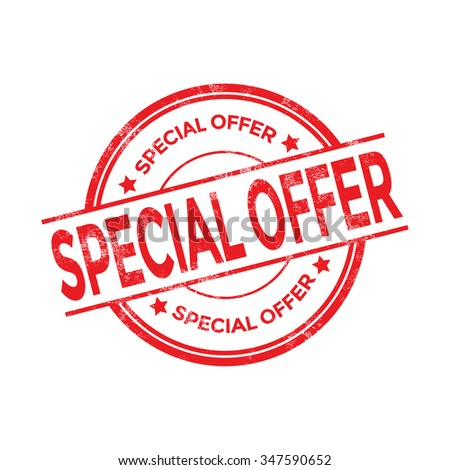 Special offer vector stamp - stock vector