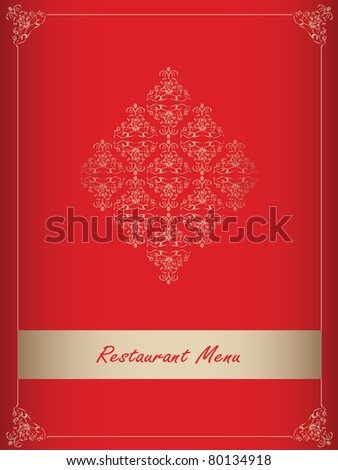 Special red restaurant menu design - stock vector