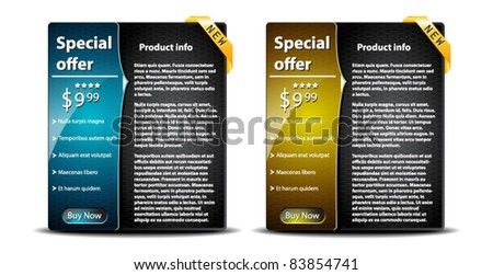 Special sale banners with product info-vector - stock vector
