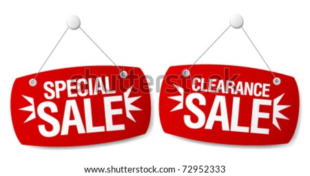 Special sale signs set. - stock vector