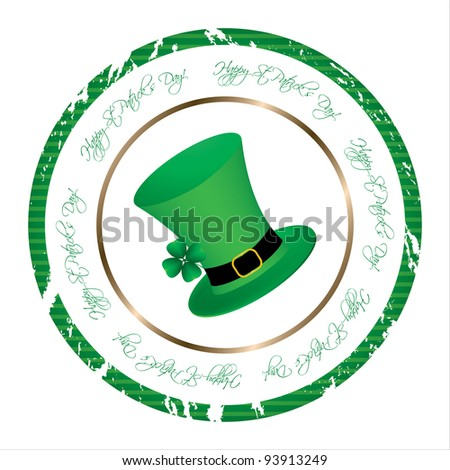 special stamp with St. Patrick's Day design - stock vector