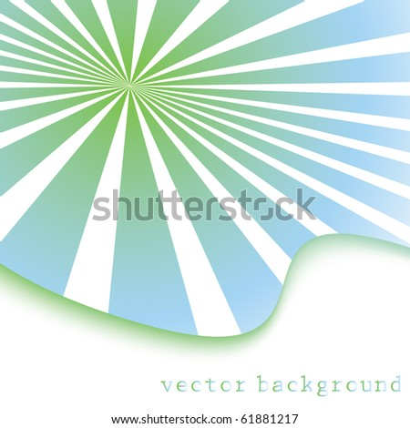 special sunburst effect - stock vector