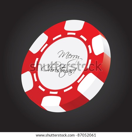 special vector poker chip - stock vector
