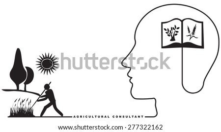 Specialist in Agriculture - Agricultural Consultant. Vector illustration. - stock vector