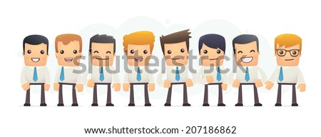 specialists in business. conceptual illustration - stock vector