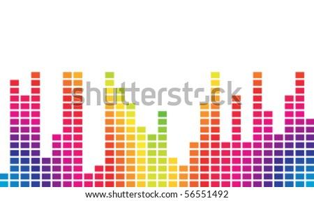 spectrum colorful music volume - stock vector