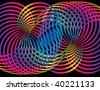 Spectrum Curls - stock vector