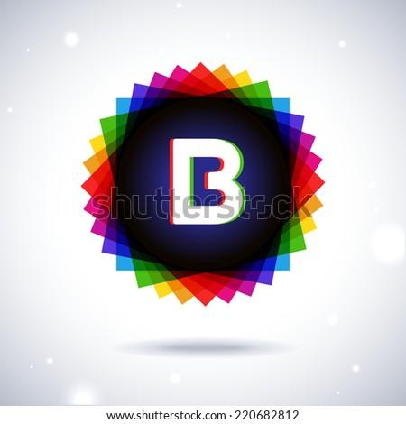 Spectrum logo icon. Letter B - stock vector