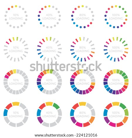 Spectrum Preloaders Set - stock vector