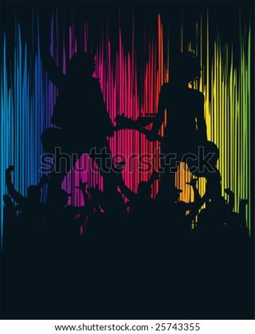 Spectrum Rockband - stock vector