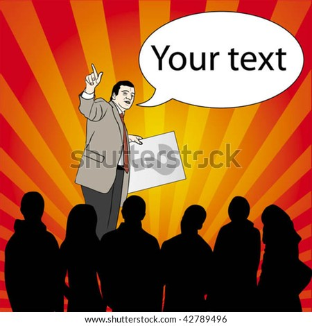 Speech - stock vector