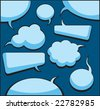 Speech And Thought Bubbles (vector). - stock vector