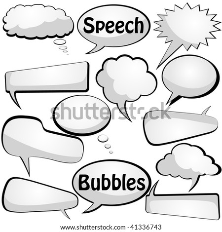 Speech and thought vector bubbles. Visit the gallery for more cool stuff - stock vector