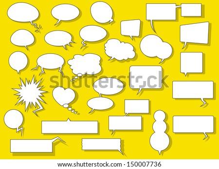 Speech Balloons - stock vector