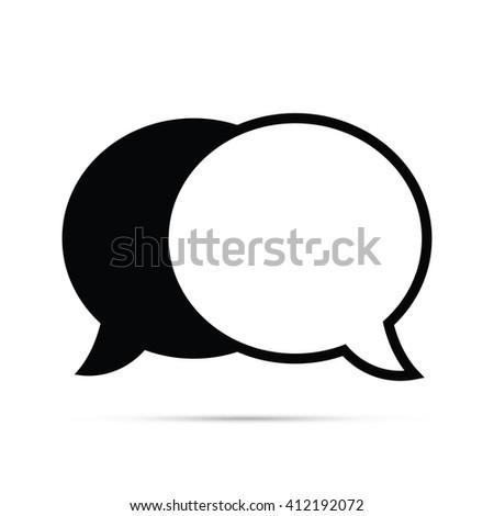 Speech Balloons Icon - stock vector