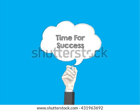 speech bubble and human hand - stock vector